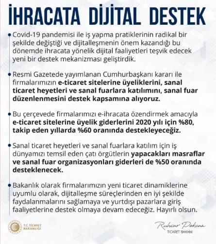 dijital destek açıklama